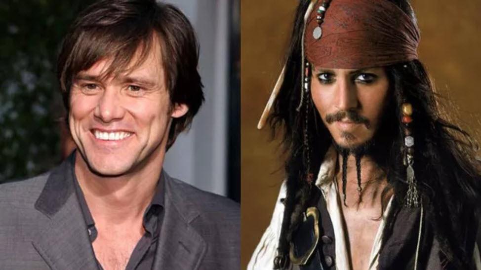 Jim Carrey mohl být kapitán Jack Sparrow