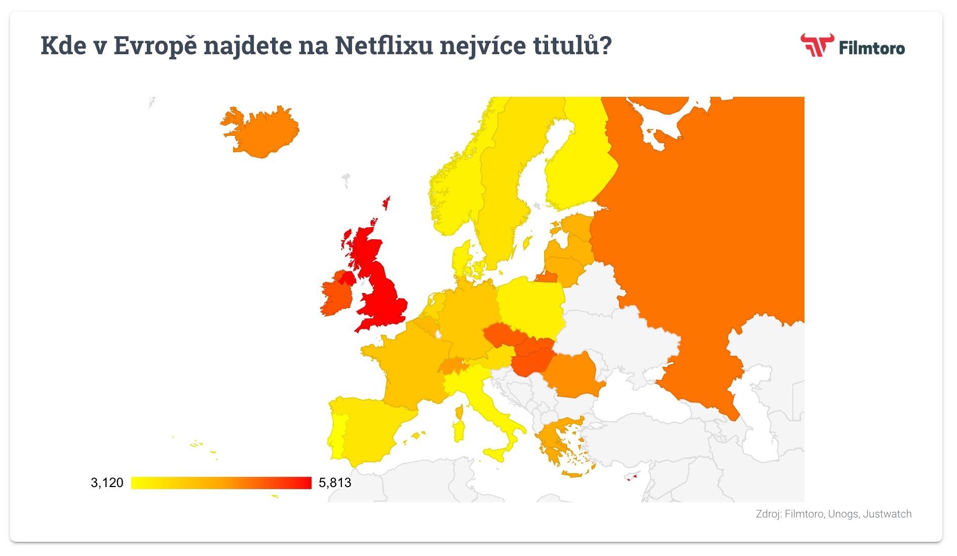 Kde v Evropě najdete na Netflixu nejvíce titulů?