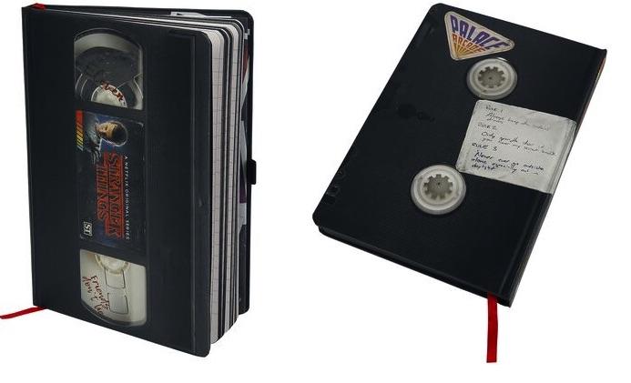 VHS zápisnik Stranger Things
