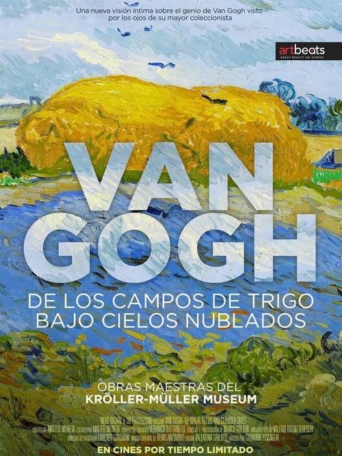 Van Gogh– oobilných polích a oblačném nebi online