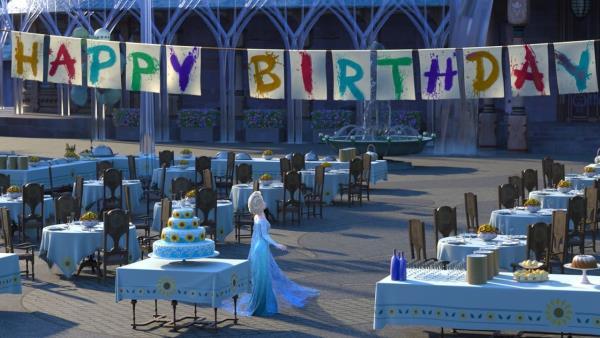 Oslava v Ledovém království