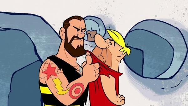 Flintstoneovi & WWE: Mela doby kamenné
