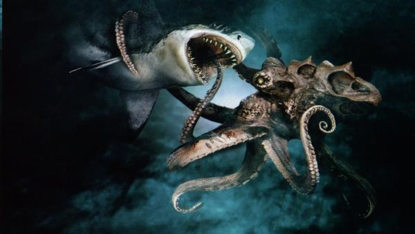 Mega Shark vs Giant Octopus